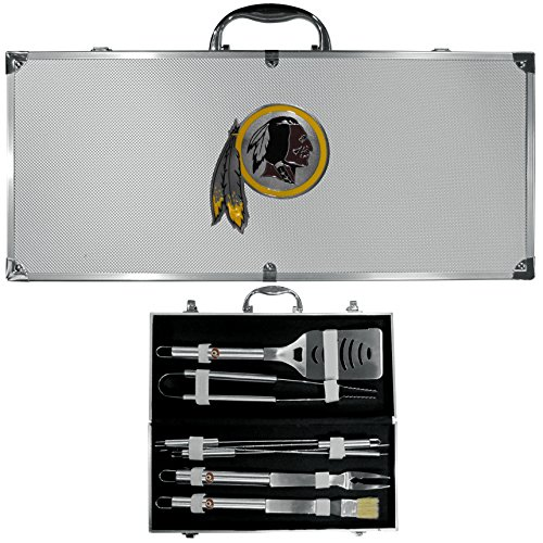 Siskiyou NFL Washington Redskins 8-Piece Barbecue Set (8 Piece Grill Set)