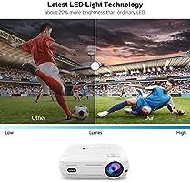 LESHP Proyector Cine en Casa LCD Full HD 3200 Lúmenes 1080P ...