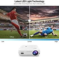 LESHP Proyector Cine en Casa LCD Full HD 3200 Lúmenes 1080P, Proyector Portátil LED Home Cinema Soporte / USB / HDMI / VGA / AV / TV para Peliculas, ...