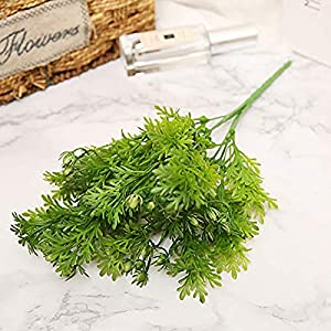 MARJON FlowersArtificial Chrysanthemum Leaves Fresh Green Grass Potted Plant Fake Flowers Bonsai Flowerpot Wedding Decor 83