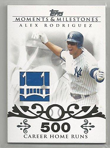 (2008 Moments & Milestones Baseball Alex Rodriguez Yankee Stadium Outfield Wall Relic Card # MR-AR )