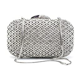 Classic Bridal Rhinestone Clutch Bag