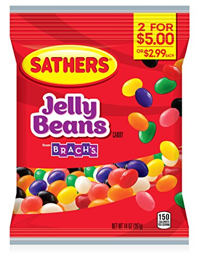 Sathers Jelly Beans, 14 Ounce Bag, Pack of 8 (Beans Jelly Sathers)