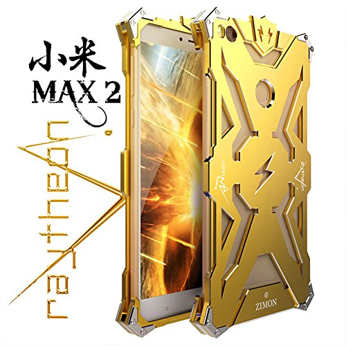 For Mi Max2,DAYJOY Luxury Cool Design Premium Aerospace Aluminum Alloy Metal shockproof Bumper Frame Cover Case Shell for Xiaomi MI Max 2 (GOLDEN)