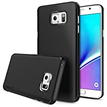 Galaxy Note 5 Case - Ringke SLIM ***Top and Bottom Coverage*** [SF BLACK][FREE HD Film] Advanced Dual Coating Technology All Around Protection Hard Case for Samsung Galaxy Note 5
