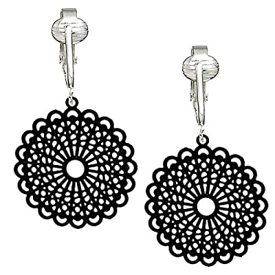 Darling Victorian Filigree Clip On Earrings for Women & Girls Clip-ons, Lacy Rounds, Flowers & Dragonfly