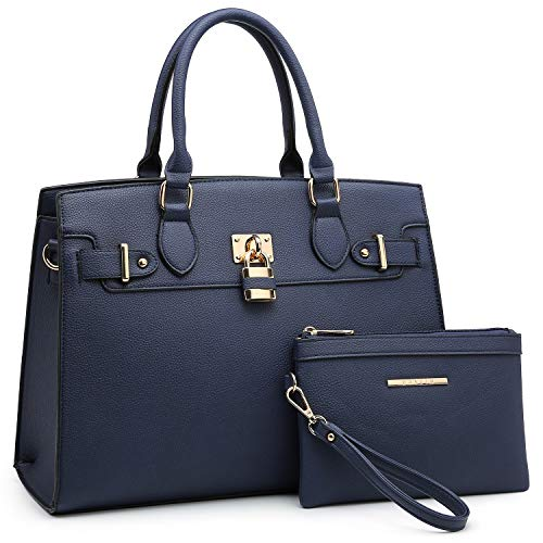 Women Handbags Designer Shoulder Bags Top Handle Satchel Tote Purse for Ladies with Wallet (23- Blue)