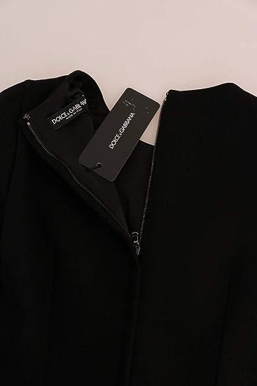 4f19ead6 Amazon.com: Dolce & Gabbana Black Yellow Tulip Wool Crêpe Sheath Dress:  Clothing