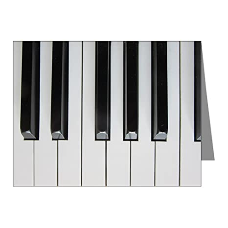 Amazon com : Note Cards (20 Pack) Piano Keys: Up Close and
