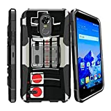 MINITURTLE Case Compatible w/ Hybrid Bumper Case for [LG Stylo 3 | Stylo 3 + 2017 LS777] [Clip Armor] Rugged Hard Shell Case w/ Stand and Holster Game Controller Retro Review