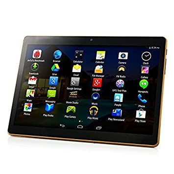 10 inch Android 7.0 Octa Core Tablet with Dual Sim Card Slots Unlocked 3G Phone Call Phablet 64GB ROM Tablet PC Built in WiFi and Camera GPS ...