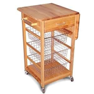 Basket Cart With Drop Leaf