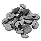 Akozon Woodruff Key, 50Pcs 45# Steel Semicircle Bond Woodruff Key Kit Accessories 22 * 9 * 5mm