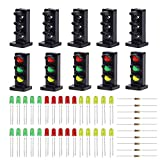 #9: Evemodel JTD26 10 Sets Target Faces with LEDs for Railway Dwarf Signal O Scale 3 Aspects