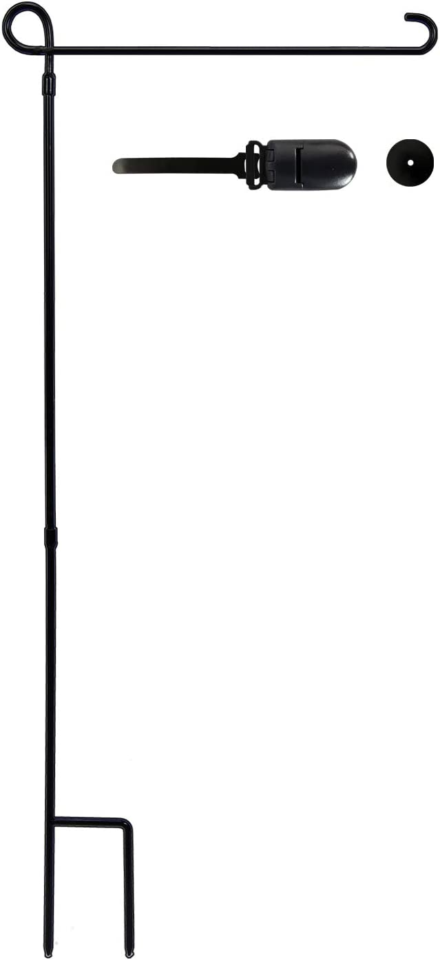 YEAHOME Garden Flag Stand Flagpole - Premium Yard Flag Holder, Thickened Metal Powder-Coated Thicken Flag Holder for American Flag with Tiger Clip and Stopper