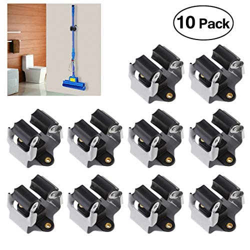 AOBRITON 10 PCS Kitchen Tool Organizer Waterproof Broom Holder Anti-Slip Umbrella Stand Wall Mounted Storage Racks from AOBRITON