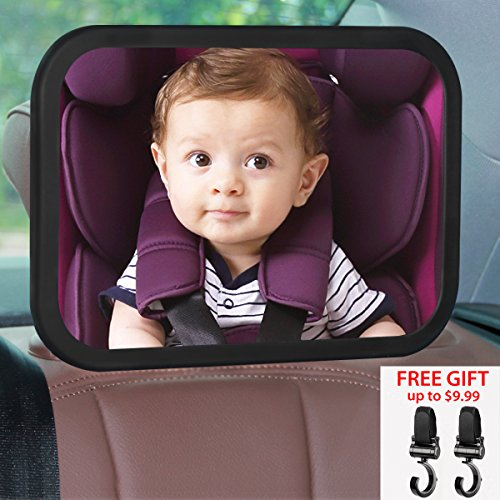 Read About JCHL Baby car Mirror Backseat Mirror for Car Rear View Mirror with Adjustable Pivot Viewi...