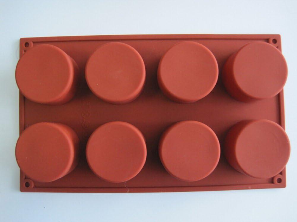 Colore: Marrone Set di 8 stampi in Silicone per Muffin e Dessert 29,3 x 17,2 x 3,7 cm Wimagic