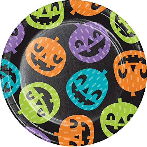 Pack of 96 Playful Pumpkins Luncheon Party Plates 6.87