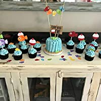 Magnificent Home Kitchen Dining Jevenis Fishing Birthday Cake Topper Gone Funny Birthday Cards Online Eattedamsfinfo