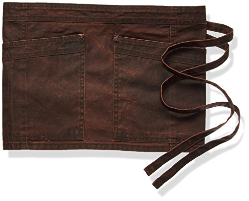 Chef Works Men's Denver Waist Apron, Chocolate Rust, One Size by Chef Works