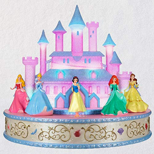 Hallmark Keepsake Christmas Ornament 2019 Year Dated Disney Live Your Story Interactive Castle Musical Tabletop Decoration with Light (Plays Princess's Signature Songs) (Top Table And)