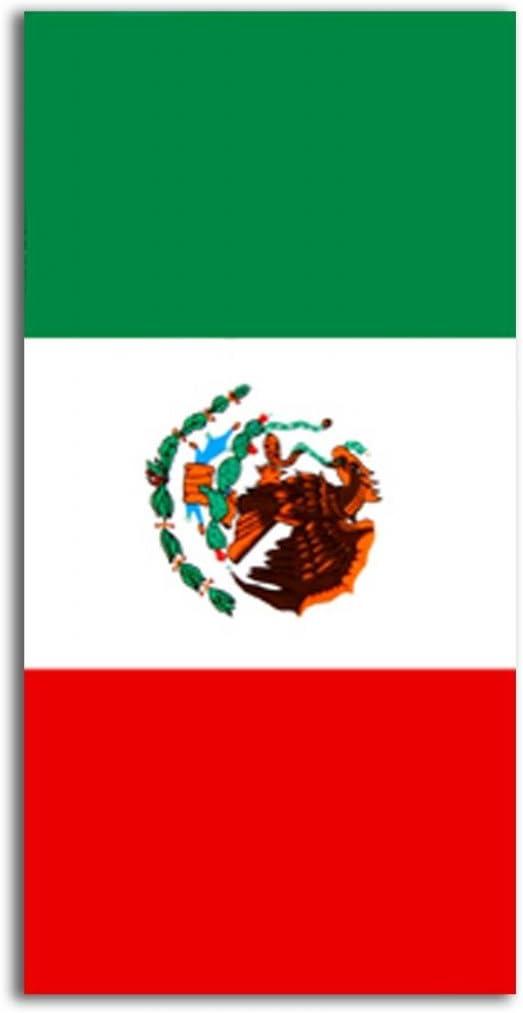 "MEXICO Proud MEXICAN Flag Beach Towel COTTON 30x60/"" for BATH POOL BEACH Toalla"