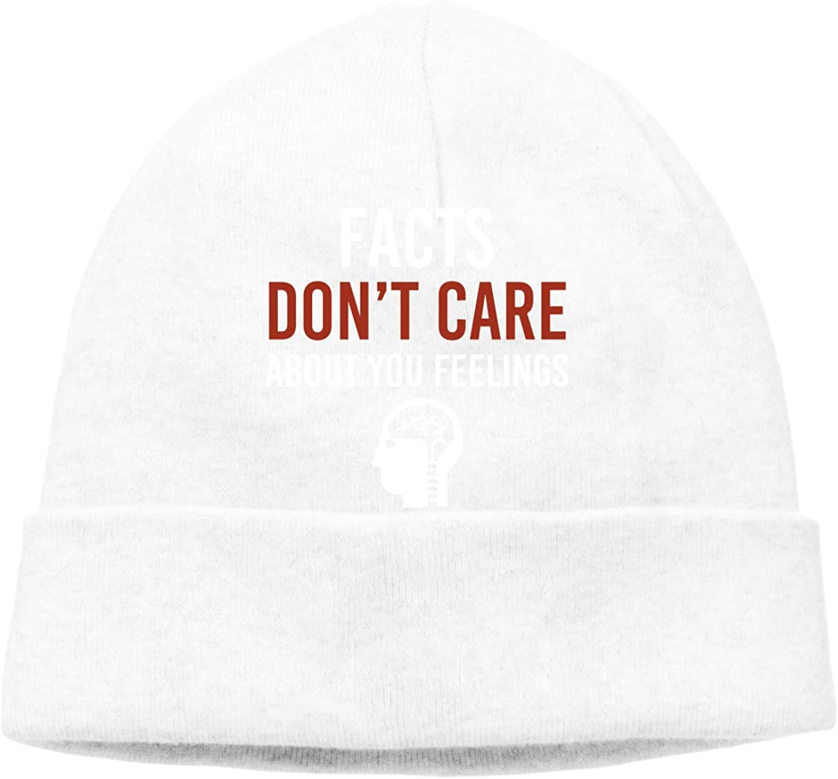 Stretch Beanies Cap BF5Y3z/&MA Mens and Womens Facts Dont Care About Your Feelings Knitting Hat
