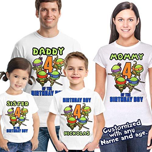Ninja Turtles Birthday Shirt - TMNT Birthday Shirt]()