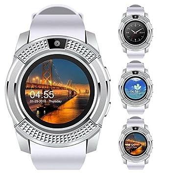 SMARTRICH - Reloj Inteligente con Pantalla táctil con cámara, Bluetooth, Deportivo, Impermeable,