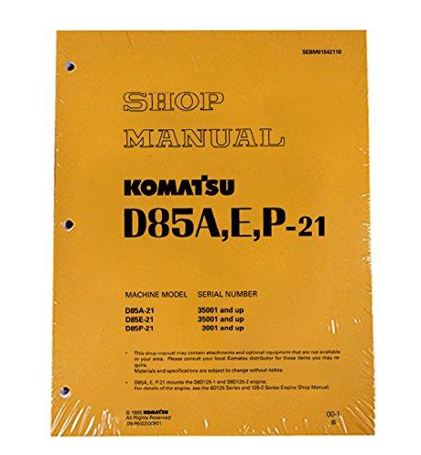 Komatsu D85A-21, D85E-21, D85P-21 Bulldozer Workshop Repair Service Manual - Part Number # SEBD01542110 by Komatsu (Image #1)