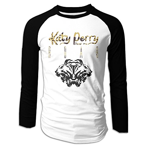 XJBD Men's Katy Perry Hear Me Long Sleeve Baseball Shirt Size XXL (Katy Perry Candy)
