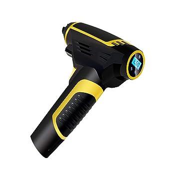 Klinkamz inflador de neumáticos portátil inalámbrico automático con compresor de Aire con manómetro de neumáticos: Amazon.es: Coche y moto
