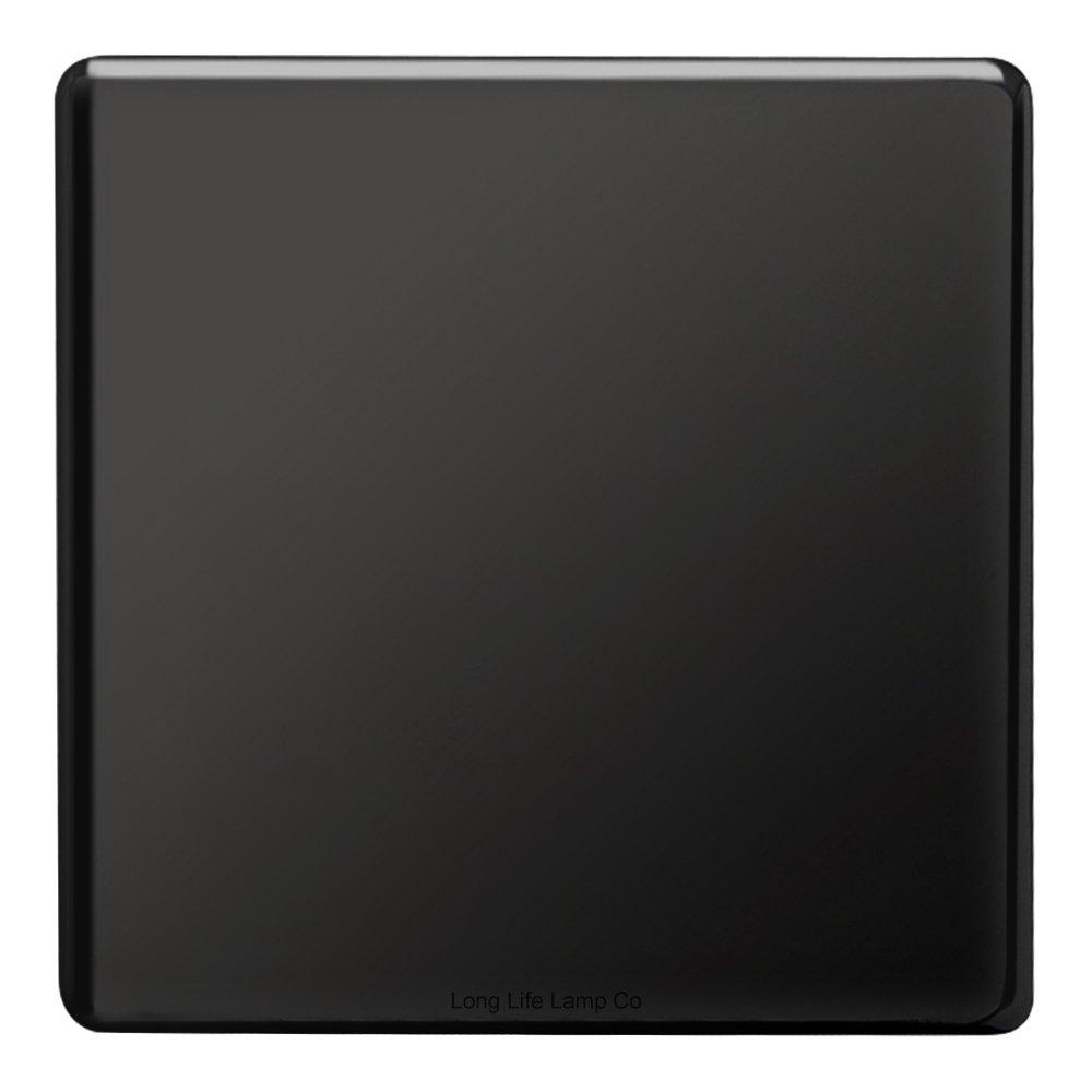 Modern Single Black Nickel Wall Blanking Plate Scewless Finish N401GME Mega Socket