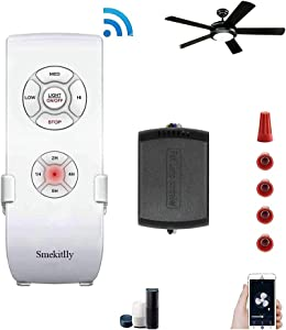 Smart WiFi Ceiling Fan Remote Control Kit, Universal Small Size Receiver Remote Controller for Ceiling Fans Lights, Compatible with Alexa & Google Home Assistant, No Hub Required (Upgraded Version)