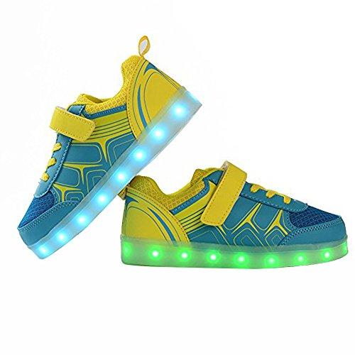 Scarpe Led Dogeek, Scarpe Light Led Per Toddle, Ragazzi, Ragazze E Bambini Con 7 Colori Chiari (scegli Una Taglia In Più) Giallo