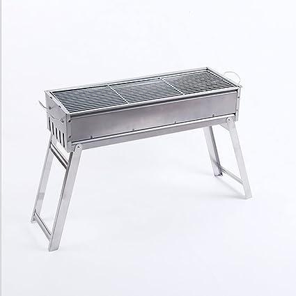 BBQ Barbacoa plegable, parrilla de carbón, cocina de picnic (Tamaño : 48*