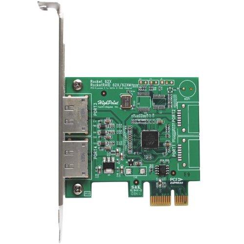 HighPoint Rocket 622 2x eSATA Port PCI-Express 2.0 x1 SATA 6Gb/s Controller