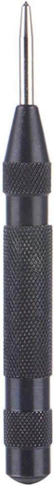 Barukra 5 Zoll schwarz HSS Automatic Drill Center Pin Punch Federbelasteter Center Punch zum Markieren von Startl/öchern