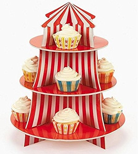Carnival Cupcake Centerpiece Birthday Decorations product image