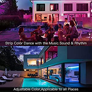 LED Strip Lights, L8star 32.8Ft/10M Color Changing Rope Lights SMD 5050 Flexible RGB Light Strips with Bluetooth Controller Sync to Music Apply for TV Bar Counter Cabinet Party Christmas Decoration