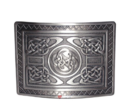Highland Swirl Kilt Belt Buckle Antique I Luv LTD