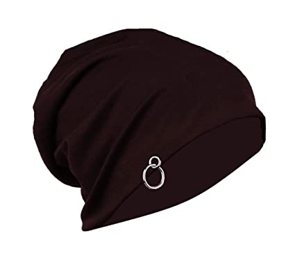 cb12153d1bf Gajraj Chocolate Brown Slouchy Beanie (With Ring)  Amazon.in  Sports ...