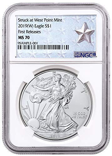 2019 American Silver Eagle Struck at West Point FR Wes $1 MS70 NGC