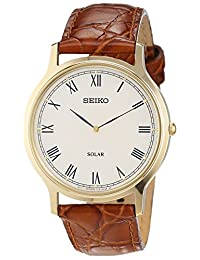 Seiko Mens SOLAR Analog Casual Watch NWT SUP876P1