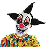 2pcs/set Scary Clown Mask Halloween Party Costume Decorations Creepy Latex Mask