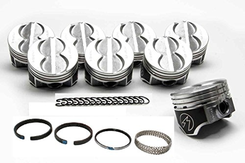 Speed Pro Hypereutectic Coated Flat Top Pistons+MOLY Rings compatible with Ford 351W 5.8L (.040