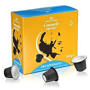 Consuelo - capsule compatibili Nespresso* Decaffeinato, 50 capsule