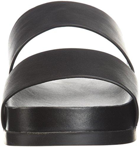 Milton Spiga Via Sandal Leather Pool Slide Women's Black 1qZwC