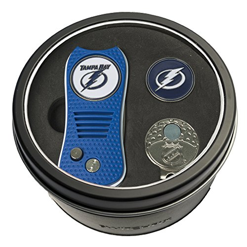 - Team Golf NHL Tampa Bay Lightning Gift Set Switchblade Divot Tool, Cap Clip, & 2 Double-Sided Enamel Ball Markers, Patented Design, Less Damage to Greens, Switchblade Mechanism